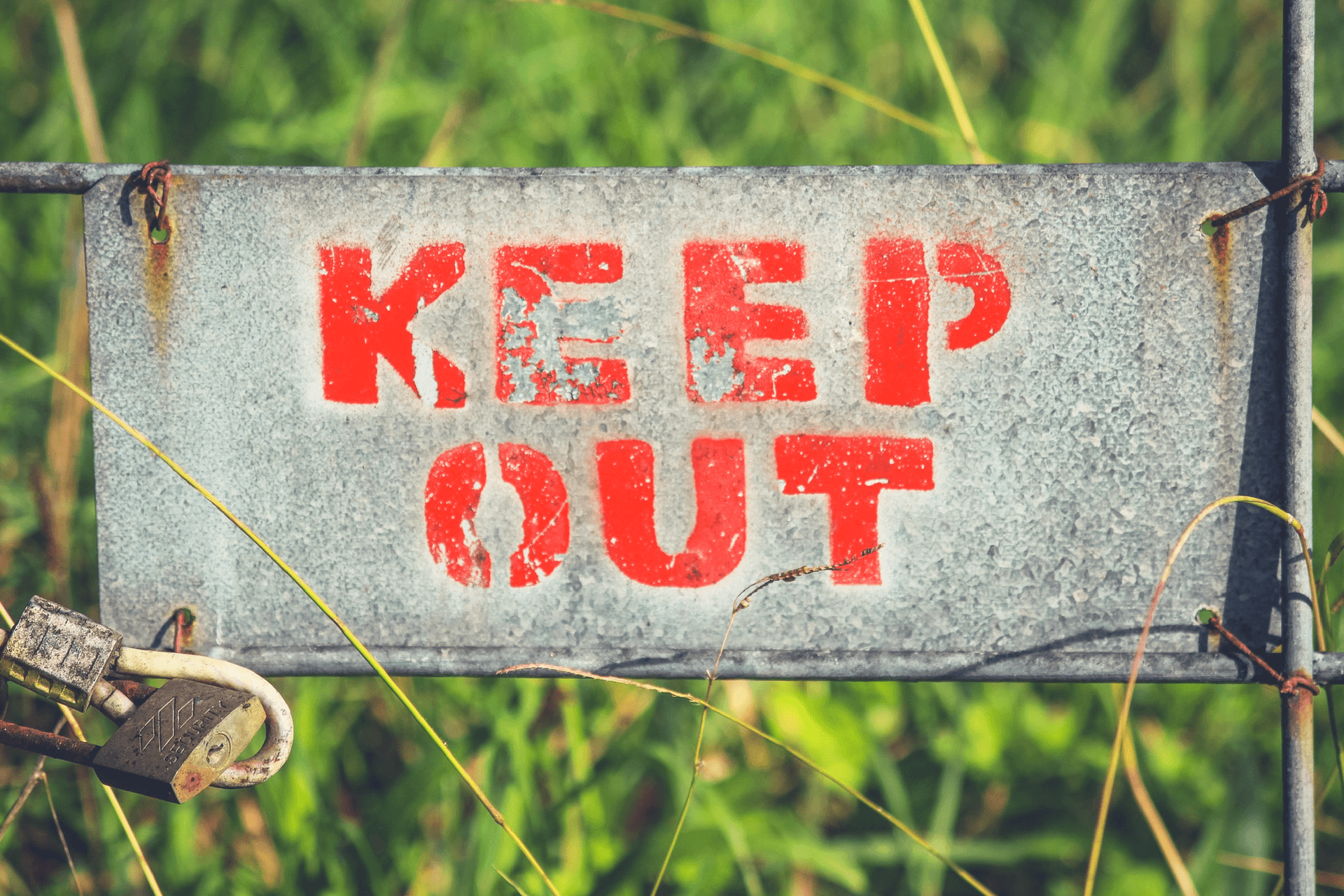 This image displays a keep out sign and portrays relevance to branding and strategic communications for nonprofit fundraising