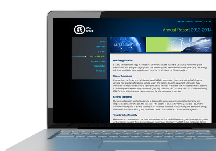 CSA Group - Annual Report Website - c ( group