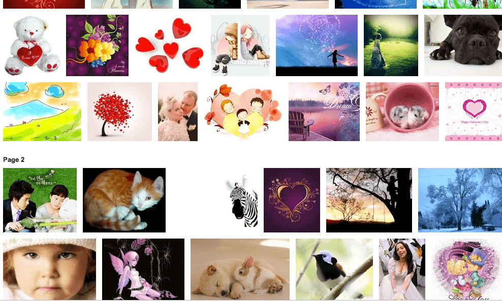 Screenshot of Google Image results for Lovely