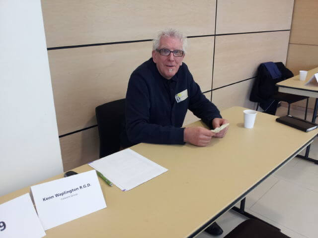 An image of Creative Director Kenn Waplington at the C ( Group table at the RGD Head Start event