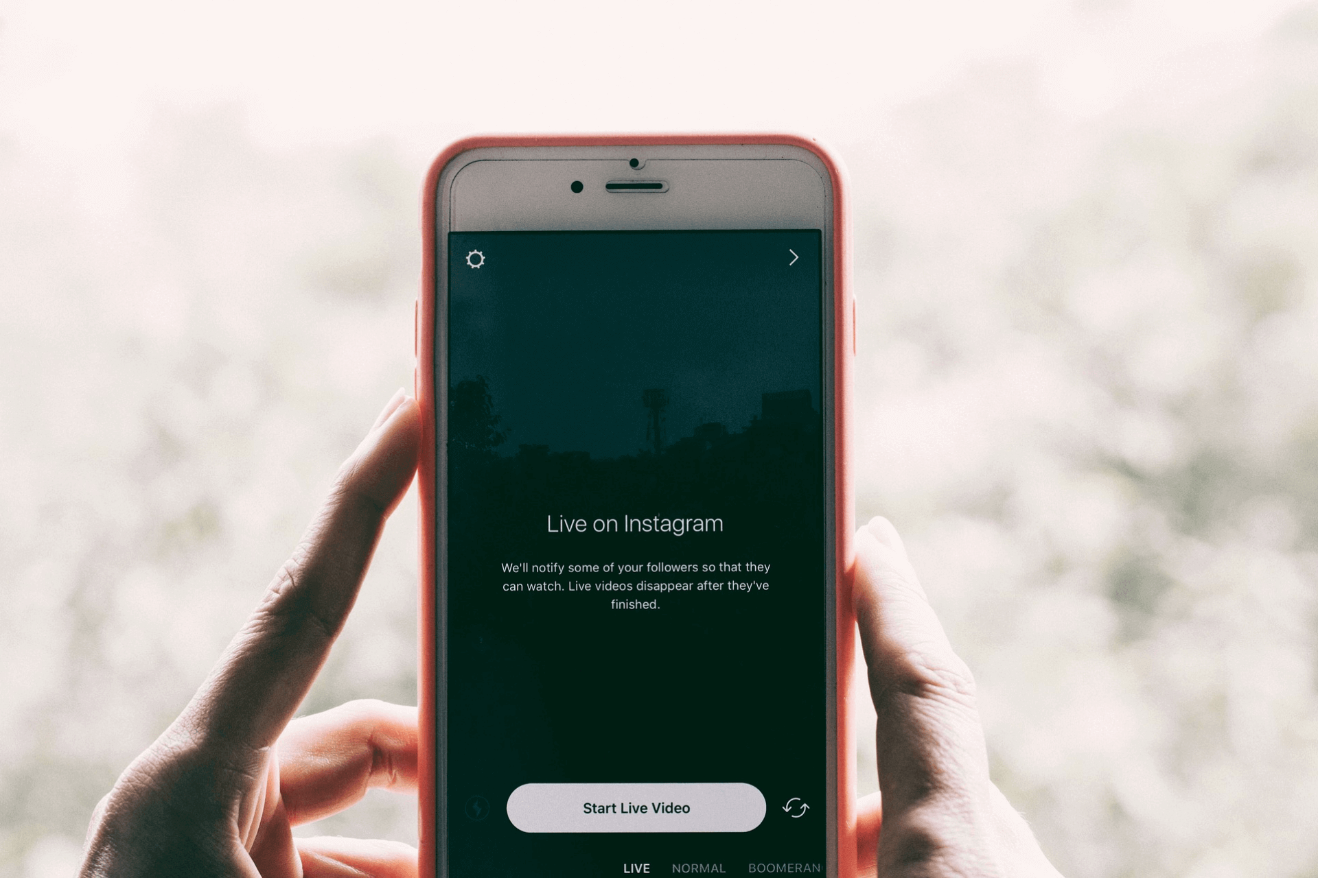 This image shows the Instagram Live video feature on a smartphone to support the article about the importance of Instagram marketing for businesses and non-profits