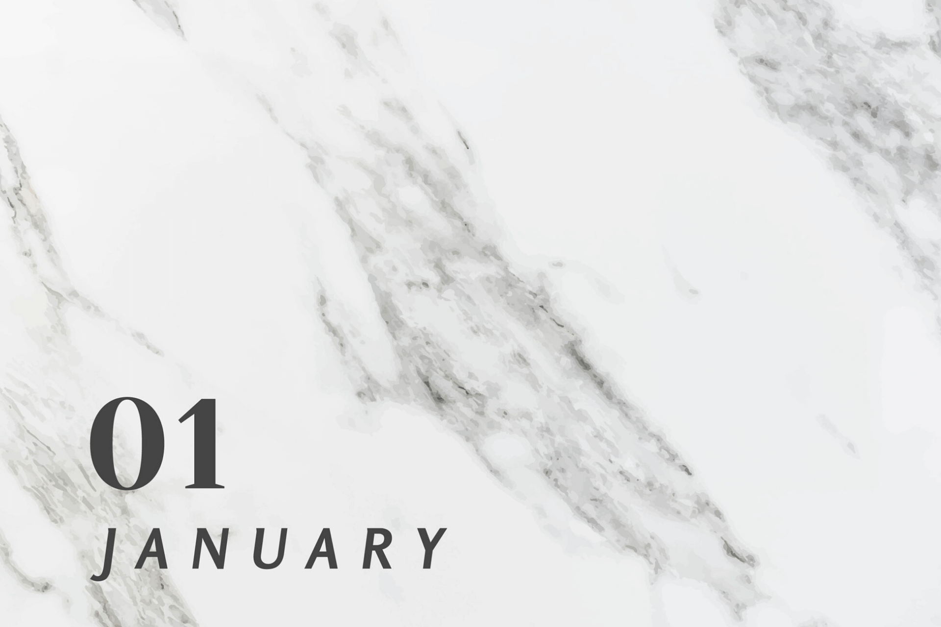 Marble background contains text, January 1st