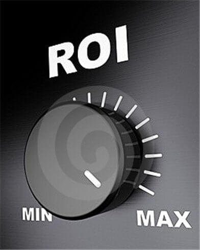 Image of a dial with the text ROI above it