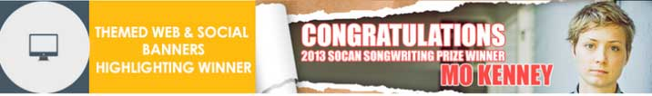 SOCAN Songwriting Prize web banner