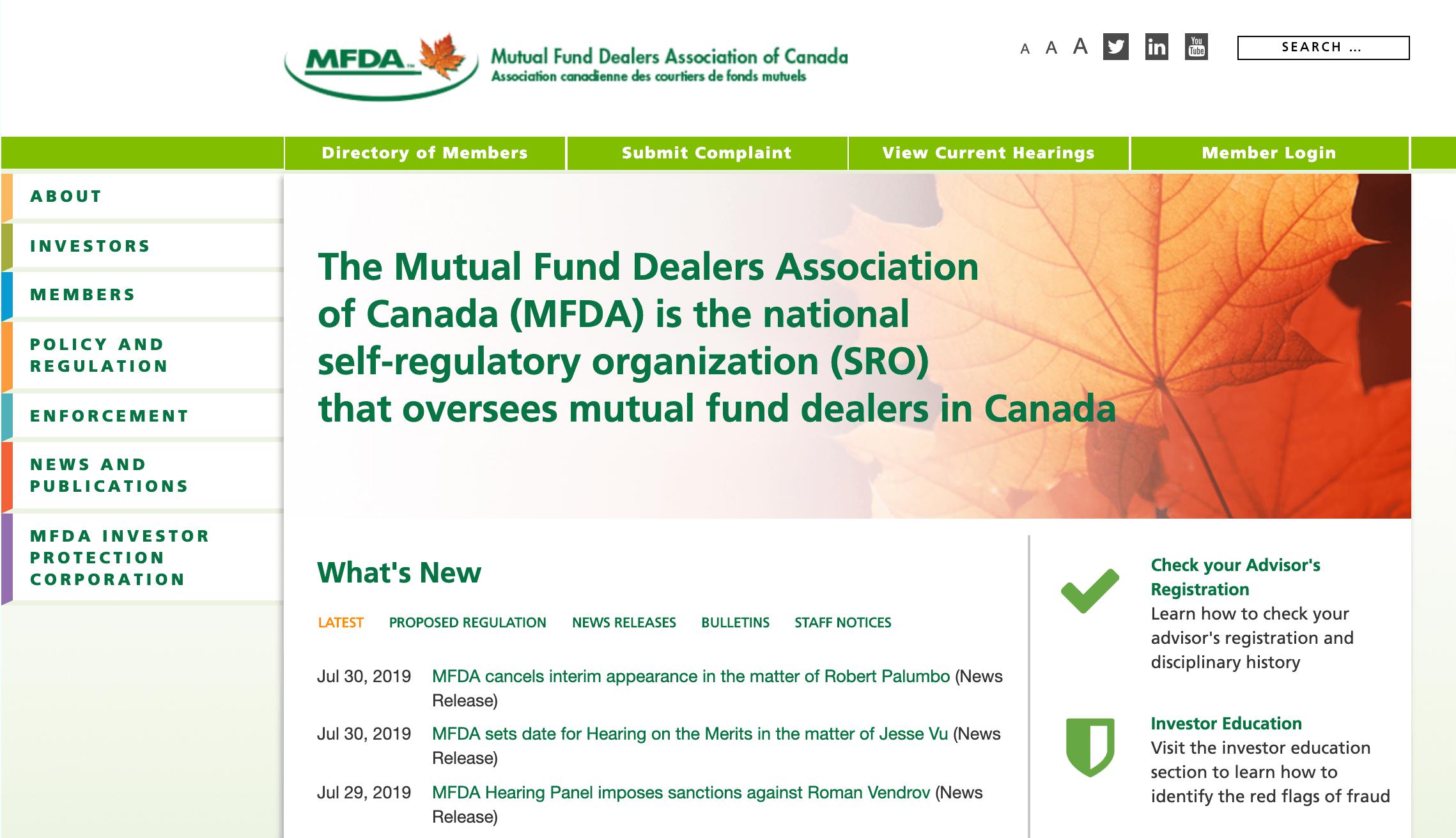 MFDA Website Design by C(Group