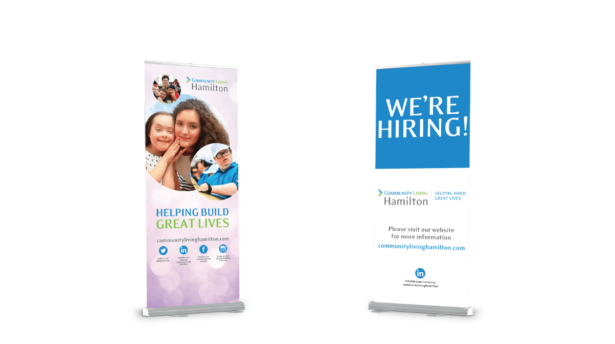 Community Living Hamilton Job Fair Roll Up Banners