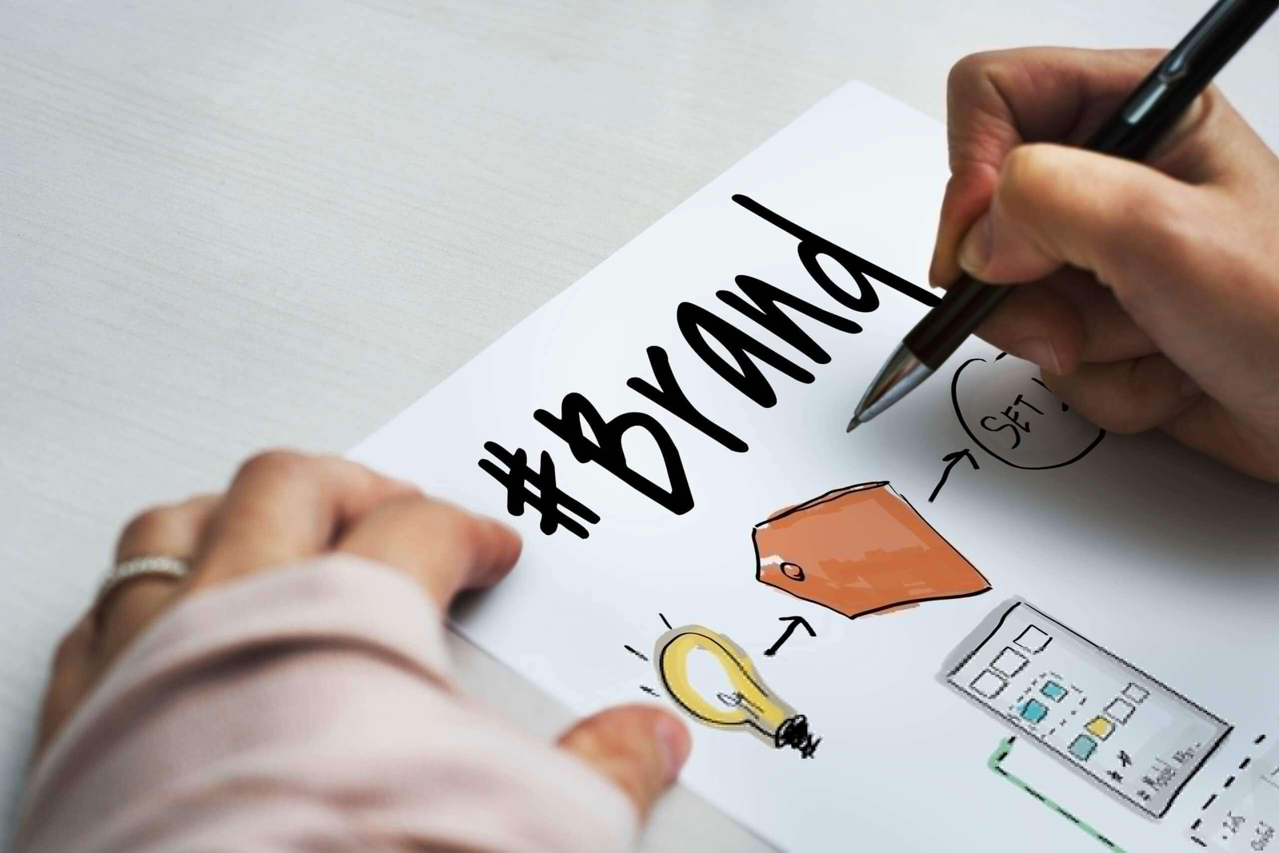 #Brand written in paper