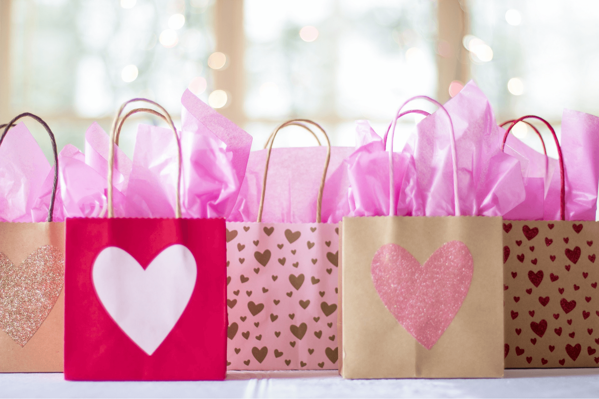 This image shows gifts bags representing the importance of marketing for matching gift fundraising