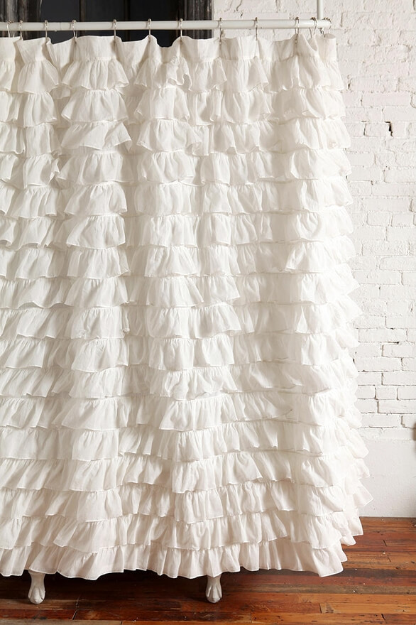 Image of a ruffled shower curtain from Pinterest