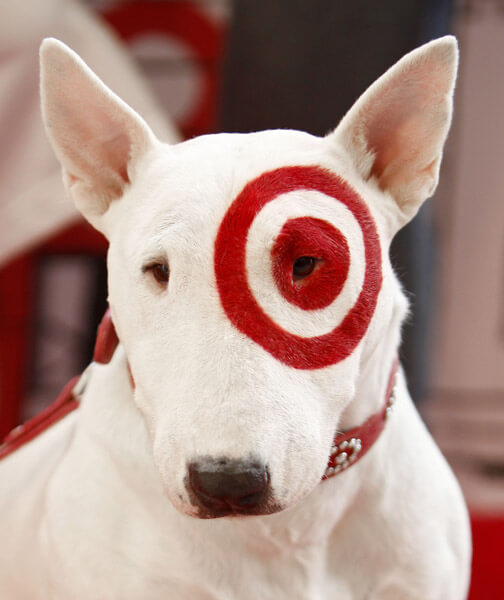 Bullseye target dog puppy images What kind of dog is the target mascot